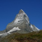 The Matterhorn as seen from above Zermatt